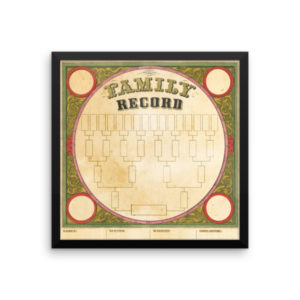 Blank Family Record – Framed 5 Generation Chart
