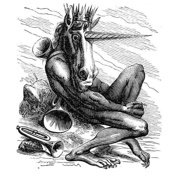 My Little Demon apparel, featuring Amduscias from Collin de Plancy's Dictionnaire Infernal, 1863